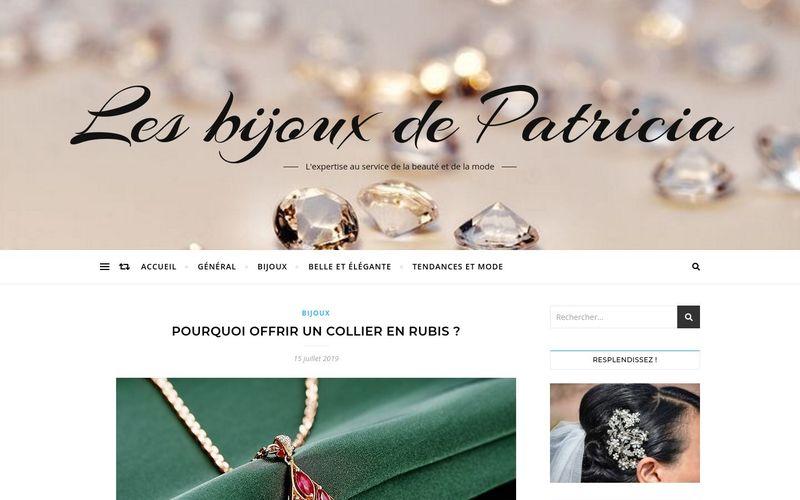 Les bijoux de Patricia - L'expertise au service de la beauté et de la mode