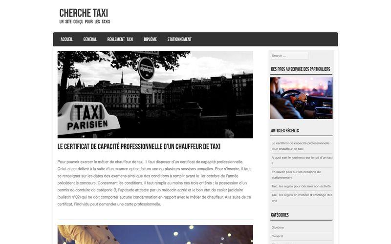 Cherche Taxi, uUn site conçu pour les taxis